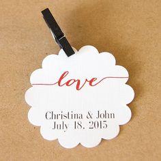 Small Custom Wedding Favor Tags Small by OrangeUmbrellaCo on Etsy