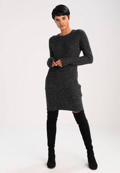 8f7b35233fe7a6 OBJNONSIA - Gebreide jurk - dark grey melange   Zalando.nl 🛒. Object.