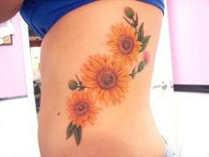 sunflower tattoos | Sunflower tattoo | Tattoos  Love this :) maybe smaller and on my foot!