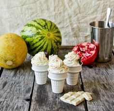 ceramic ice cream cone holders via Gardenista