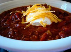 Sweet Heat Louisiana Chili. Balsalmic vinegar and sundried tomatoes make this chili recipe special and it is soo good. I made it last winter and will make it again for Halloween this year. YUM!