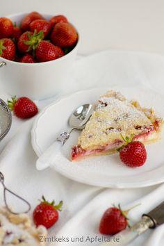 Absolutes WOW-Rezept: Erdbeer-Cheesecake-Pie mit Zitrus-Streuseln - Zimtkeks und Apfeltarte