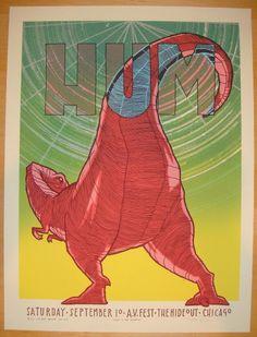 2011 Hum - Chicago Silkscreen Concert Poster by Jay Ryan
