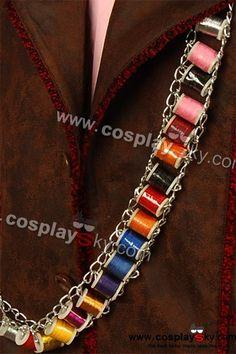 Alice in wonderland Johnny Depp Mad Hatter Thread Belt bandoleer | CosplaySky.com