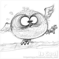 Owl - Sketch by Is Cool Art, via Flickr