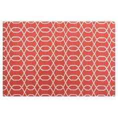 Check out this item at One Kings Lane! Owen Flat-Weave Rug, Red/Ivory