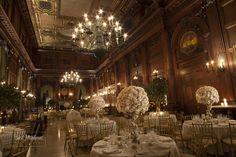 Timeless & Romantic White Wedding Centerpieces by Ariston Florist NYC - mazelmoments.com