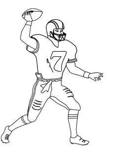 nfl football player number 7 coloring for kids football coloring pages kidsdrawing free