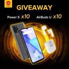 Sorteio de 10 Smartphones UMIDIGI Power 5 e AirBuds U Lg Smartphone, Online Contest, Free Deals, Online Drawing, Iphone, Giveaway, June, Prize Draw