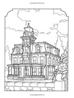 The Victorian House Coloring Book: Kristin Helberg, Daniel Lewis: 9780486239088: Amazon.com: Books