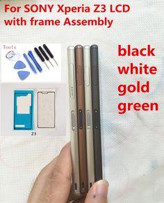 Blanc noir or vert LCD Affichage Écran Tactile Digitizer avec cadre Assemblée outils gratuits Pour Sony Xperia Z3 D6603 D6653 D6633