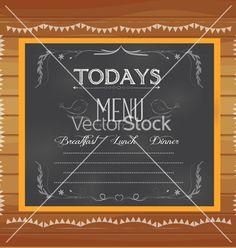 Menu written on chalkboard vector by ngocdai86 on VectorStock®