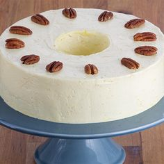 Try this Pecan Torte with Fresh Buttercream recipe by Chef Anna Olson. This recipe is from the show Bake With Anna.