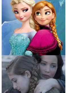 Katniss and Elsa both have a sister which they would do anything for!