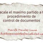 Sácale partido a tu procedimiento de control de documentos