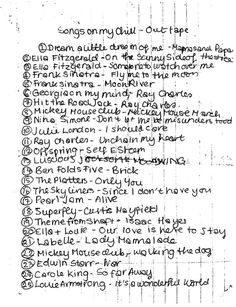 Amy Winehouse mix tape list - SINGLE USE ONLY