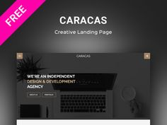 Caracas – Creative Landing Page