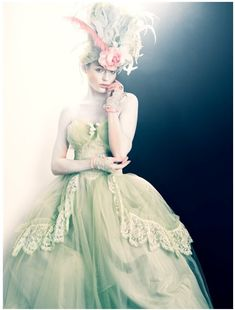 Green Ball Gown .. i feel obligated in life to wear a dress like this at least once.