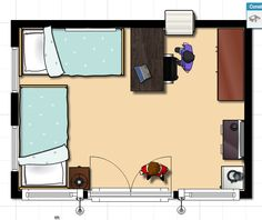 Small Room Two Twin Beds Apartment Layout Apartment