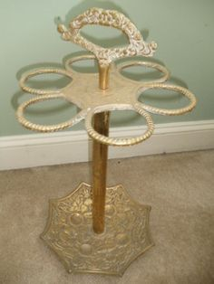 Vintage Antique Solid Brass Umbrella Stand Holder Very Ornate Umbrella Stands, Tiered Cakes, Solid Brass, Vintage Antiques, Ebay, Home, Ad Home, Homes, Umbrella Holder