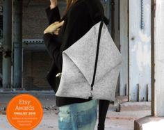 Unique design backpack & messenger bag Gray by misirlouHandmade