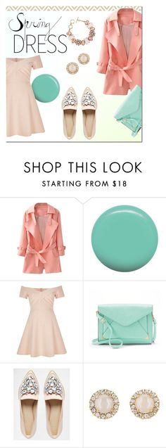 """""""Spring"""" by basiclina on Polyvore featuring Jin Soon, River Island, ShoeDazzle, Apt. 9, ASOS, Kate Spade, pastel, pastels and springdress"""
