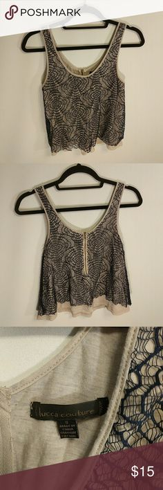 Lucca couture lace tank. Size small. Lucca couture lace tank. Size small. Lucca Couture Tops Tank Tops