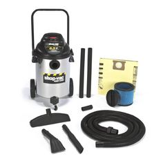 Shop-Vac 9625510 Horsepower Right Stuff Stainless Steel Wet/Dry Vacuum, Canister Vacuums Central Vacuum Systems Handheld Vacuums Robotic Vacuums Stick Vacuums Delta Power Tools, Wet Dry Vacuum Cleaner, Vacuum Cleaners, Stainless Steel Tanks, Vacuum Reviews, Wet And Dry, Industrial, Dry Vacuums, Stick Vacuums