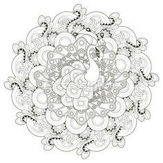 Diseño de pavo real hermoso — Ilustración de stock #87958764