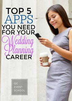 Wedding planners lead very busy and hectic lives, so thankfully there are some new apps to help simplify and organize! Read on for the top 5 apps you need for your wedding planning career, including Slack and Trello! #QCEventSchool #events #weddings #learning #apps #helpfulapps
