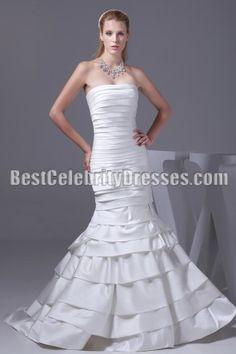 strapless mermaid weddding dress bridal gown