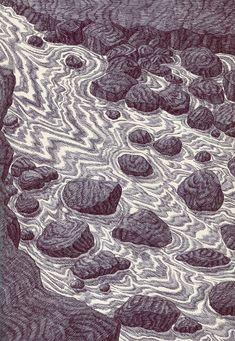 Suburban Mystique: Bic Drawings by Kevin Lucbert Biro Art, Ballpoint Pen Art, Illustrations, Graphic Illustration, Pattern Art, Art Inspo, Painting & Drawing, Landscape Paintings, Monochrome