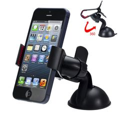 -50% Discount ⇛ Universal 360 degree Car Windshield Mount Cell Mobile Phone Holder Bracket Stands for iPhone 5 6 Plus Galaxy Note 2 3 S4 S5 GPS --  $2.10 ⇛http://s.click.aliexpress.com/e/V3fy3vFMV Purchase through above link!