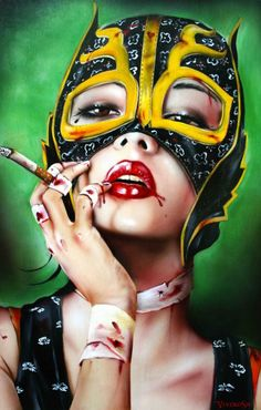 Painting by Brian Viveros