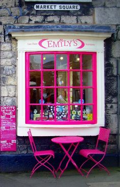 Emily's Tea Room - Kirkby Lonsdale, Cumbria, England - by Tony Worrall ~ this place literally has my name on it! Cumbria, Chic Retro, Bar Restaurant, England, Shop Fronts, Vintage Design, Bed And Breakfast, Pretty In Pink, Tea Time