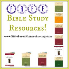{Free} Bible Study resources