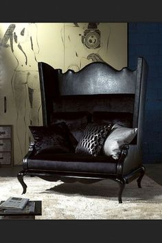 High backed #Goth mini couch