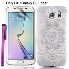 "Galaxy S6 Edge Case, BeeShine® Retail Package [Clear Big Flower Style] Slim-fit [Ultra Thin TPU Gel] "" Galaxy S6 Edge"" Soft Rubber Skin TPU Gel Case Cover W/ LCD Film Screen Protector & Touch Stylus Pen For Samsung Galaxy S6 Edge (SM-G925) BeeShine http://www.amazon.com/dp/B00VNQDSGS/ref=cm_sw_r_pi_dp_BkRmvb0TB764Z"