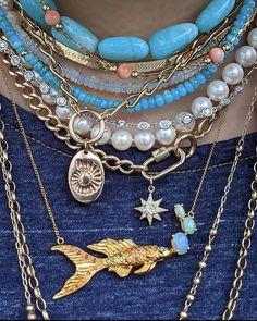 Funky Jewelry, Bohemian Jewelry, Cute Jewelry, Gemstone Jewelry, Beaded Jewelry, Jewelry Necklaces, Fashion Accessories, Fashion Jewelry, Layer Necklace