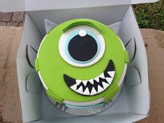 My son's Mike Wazowski cake with a fondant design . . . it was cute & yummy!