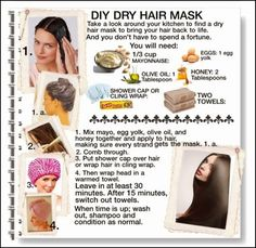 24 dry hair treatments from your kitchen dry hair dry