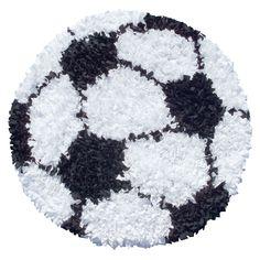 Hand-Woven Shaggy Raggy Soccer Ball / Jersey Rug