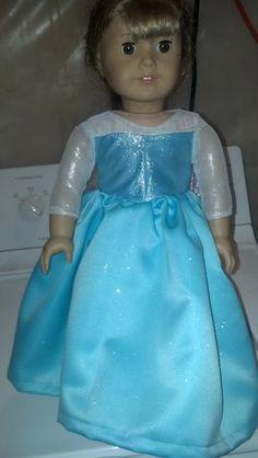 Princess Elsa dress American Girl Doll by MerryMarysCreations, $22.00 Girl Doll Clothes, Girl Dolls, Elsa 2, Princess Elsa Dress, Frozen Dolls, Miss Priss, Frozen Theme Party, America Girl, Frozen Costume