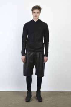 men's shorts and black leggings/tights Style SS 2014
