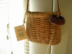 BEAUTIFUL HANDMADE BASKET FOR HAND SPINNING HOLDS DROP SPINDLE & ROVING WOOL   eBay