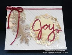 Stampin' Up! Vintage Leaves by Melissa Davies @rubberfunatics #rubberfunatics #stampinup