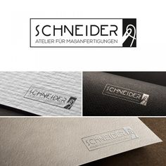 Logoentwürfe für eine Schneiderei mit Maßanfertigung