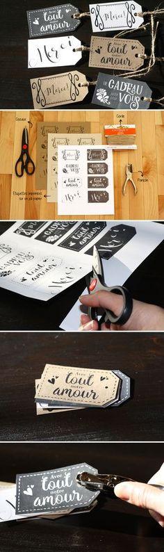 Étiquettes « merci » prêtes à imprimer ! J'adore leur look !                                                                                                                                                      Plus