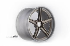 ADV5SL Superlight 3 Piece Forged Wheel in Brushed Matte Titanium with Brushed Matte gunmetal step lip