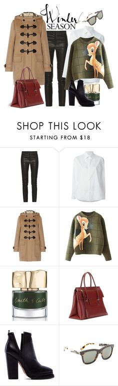 """It's Official - Winter is Here"" by magic-pudding ❤ liked on Polyvore featuring moda, Isabel Marant, Y's by Yohji Yamamoto, Burberry, Smith & Cult, Tom Ford, Jeffrey Campbell y Kenzo"